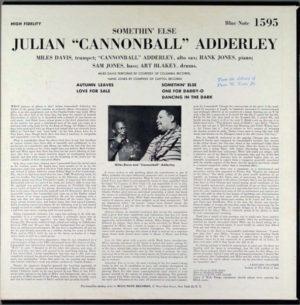 Adderley Cannonball Somethin' Else Color Vinyl 180 gr. Limited Edition