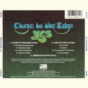 Yes Close to the edge 3