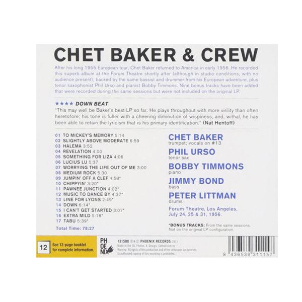 Vinili Chet Baker & Crew